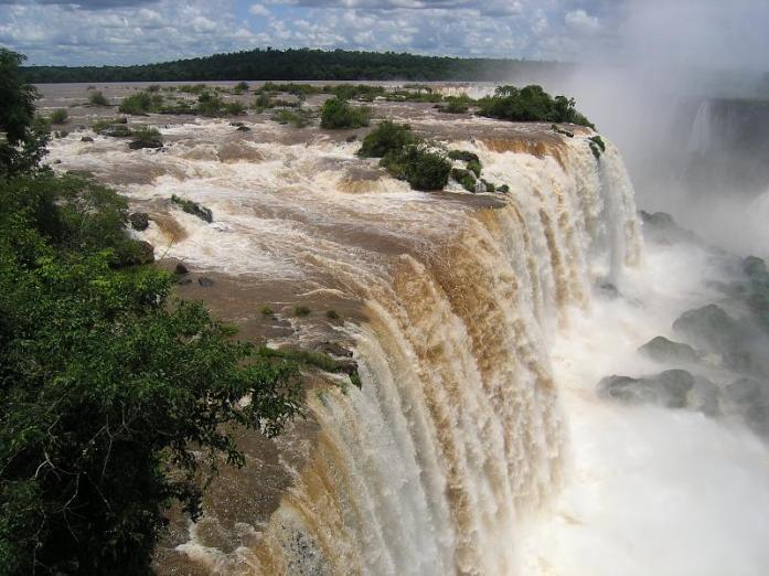 at the Devil's Throat, Iguazu Falls, Brazil