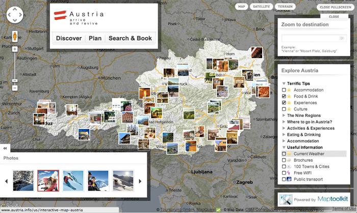 الخريطة التفاعلية للنمسا