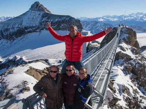 الجسر المعلق الجديد في سويسرا بقمة جلاسيي3000