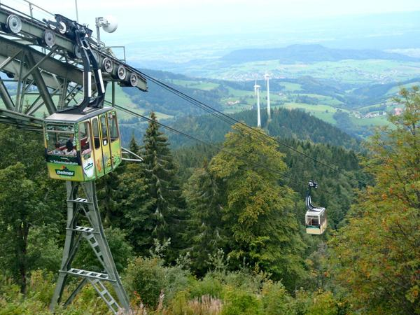 """""""schauinslandbahn"""" أطول تلفريك فيألمانيا"""