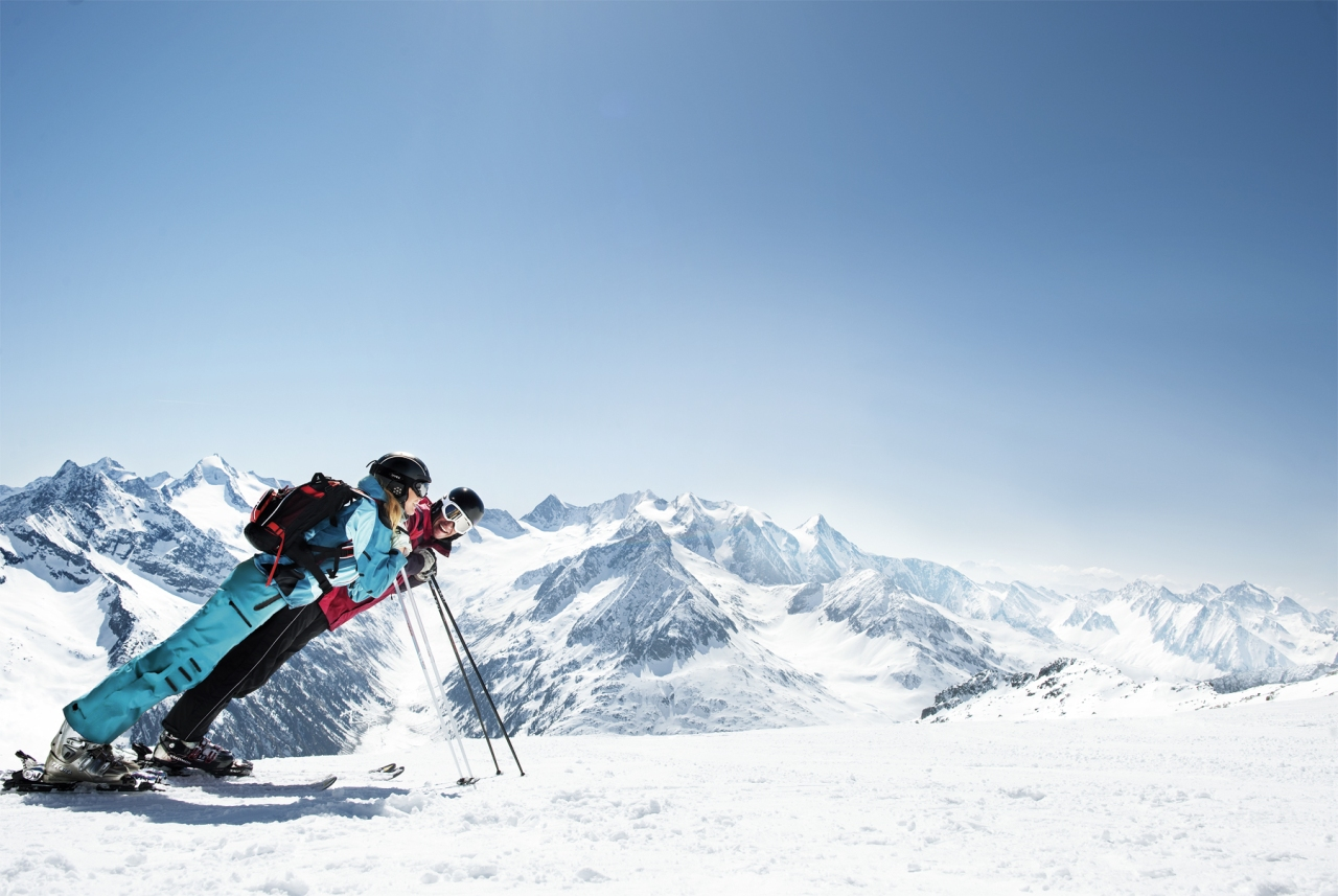 منتجع التزلج هينترتكس غليشر الجليدي في وادي تكس في جبال الألبزيلرتال