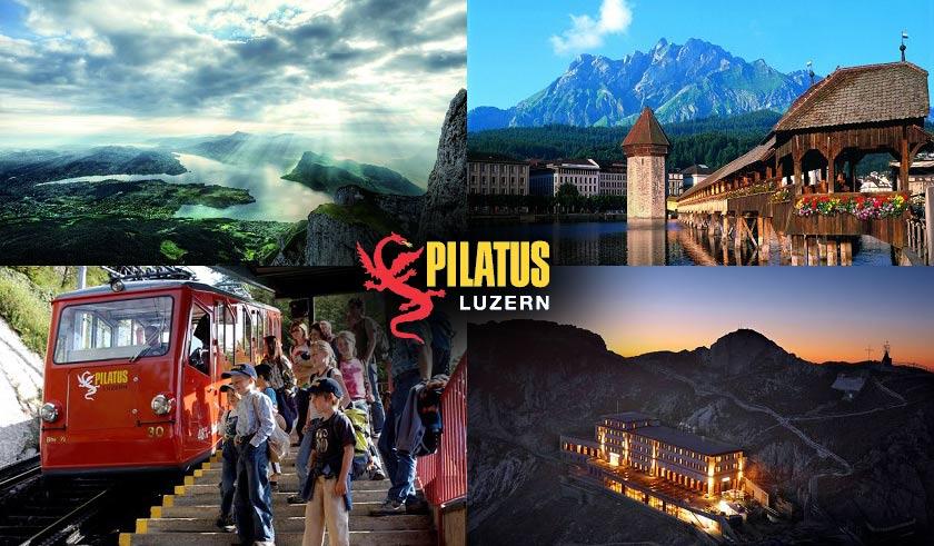 الرحلة البانورامية إلى جبل التنين قمة بيلاتوس كولمالسويسرية