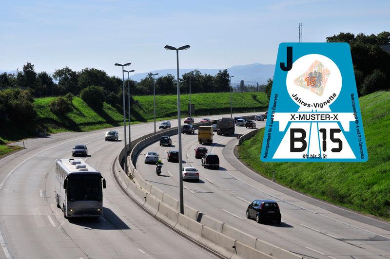 """استكر الطرق السريعة في النمسا لعام """"2015"""""""