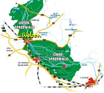 Spreewald-karte