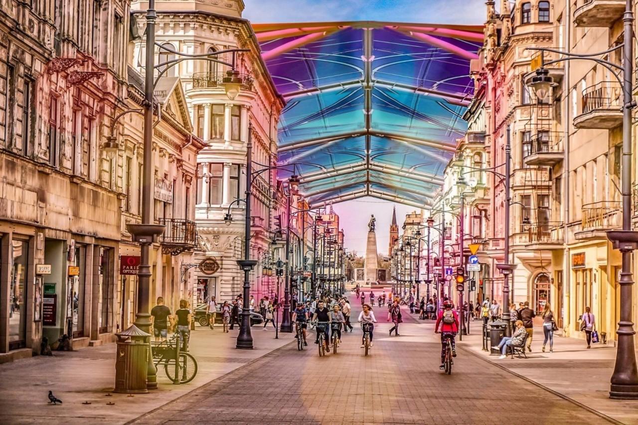 شارع  PIOTRKOWSKA  رمز مدينة لودزالبولندية