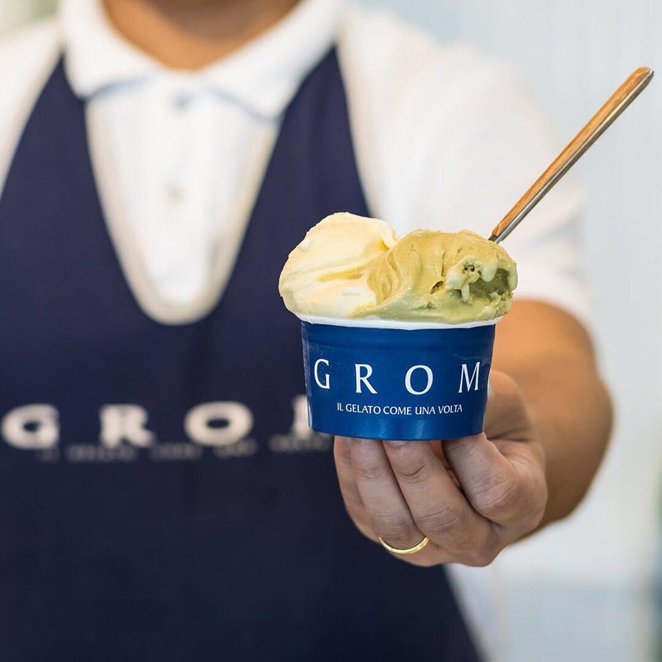 """متاجر الجيلاتو الإيطالي غروم """" Grom"""""""